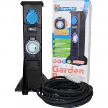 Садова розетка SuperFish Garden Power з таймером