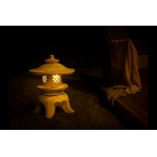 Светильник садовый керамический, малый