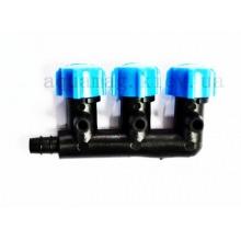 краник для распылителя 4 мм на 3 выхода 845215 Aquael (Польша)