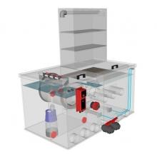 Комбинированный барабанный фильтр для пруда (УЗВ) AquaKing Red Label Combi Trickle Filter 20/25 Basic 2