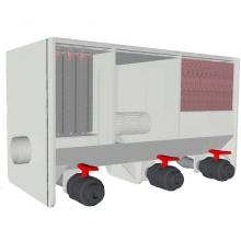 фото Трехкамерный проточный фильтр для пруда AquaKing Red Label 3 Chamber Filter 9000