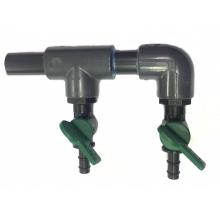 Розділювач повітря AquaKing на 2 крана, пластиковий 8/10 мм