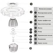 Плавающий фонтан-аэратор Grech COP-10000