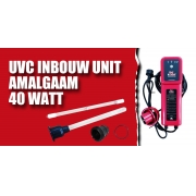 Встраиваемый комплект ультрафиолетовой лампы AquaKing Red Label UVC Inbouw Unit Amalgaam 40W (incl. Timer)